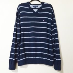 Tommy Hilfiger Sweaters - Tommy Hilfiger V-Neck Long Sleeve Striped Sweater